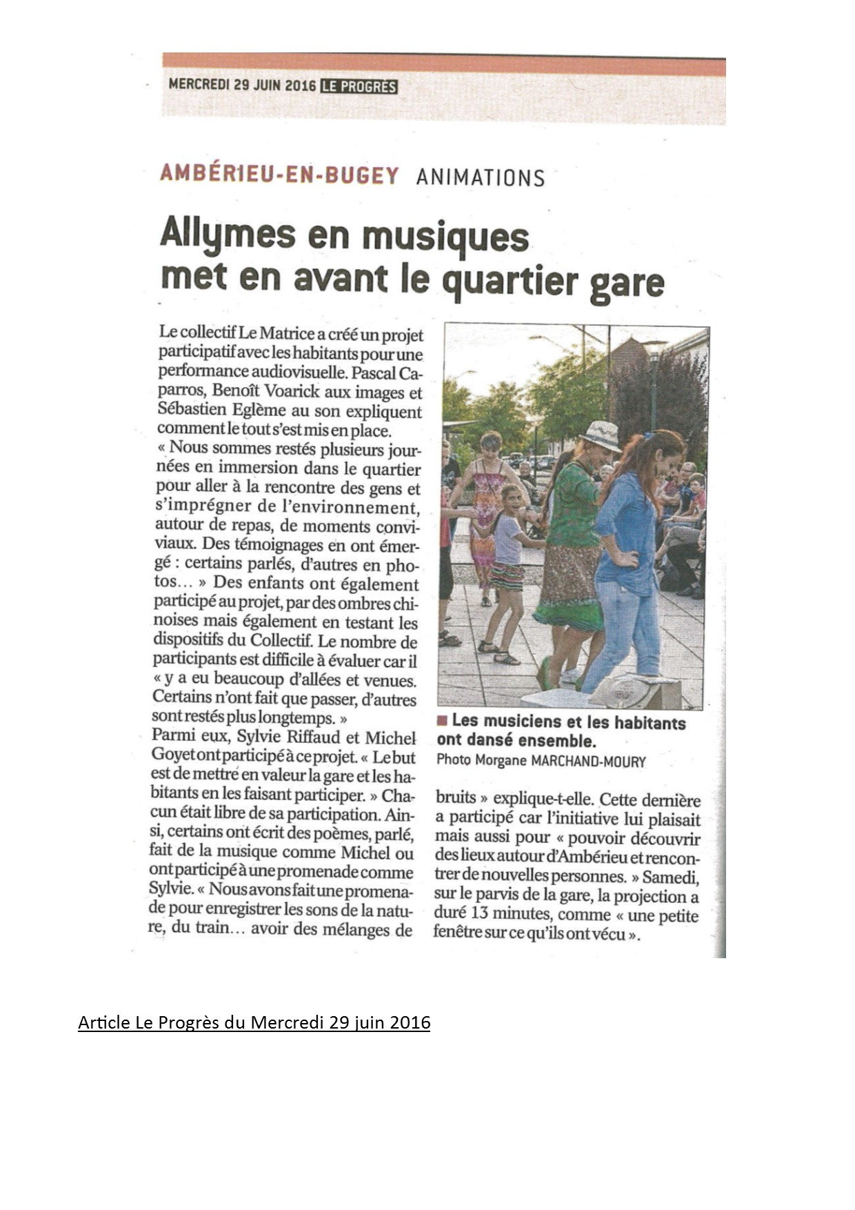 Allymes article du 29 juin
