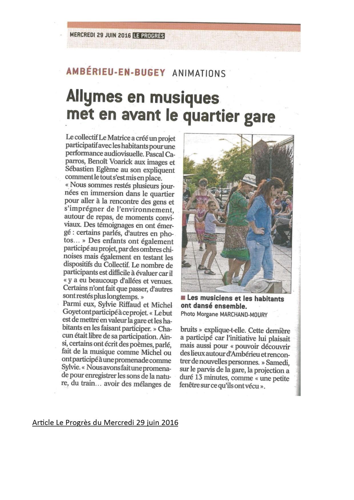 Allymes article du 29 juin